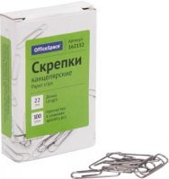 Скрепки OfficeSpace 100шт
